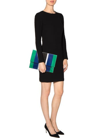 Striped Large Lunch Clutch