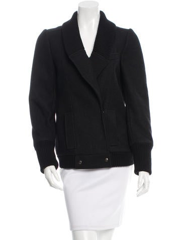 Proenza Schouler Wool Double-Breasted Jacket None