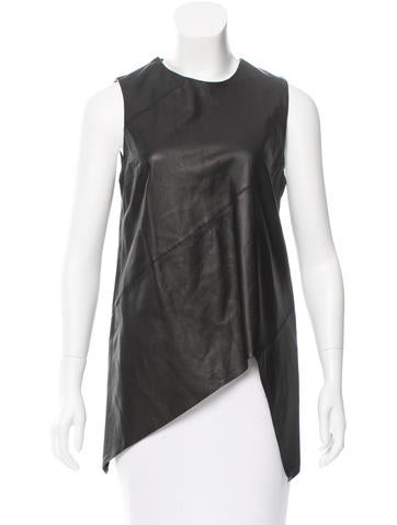 Proenza Schouler Leather Assymetrical Top