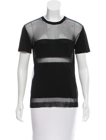 Proenza Schouler Sheer-Accented Knit Top None