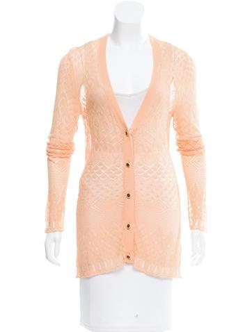 Proenza Schouler Open-Knit Button-Up Cardigan None
