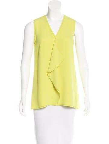 Proenza Schouler Ruffle-Trimmed Sleeveless Top None
