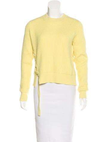 Proenza Schouler Lace-Up Wool Sweater w/ Tags None