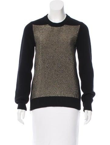 Proenza Schouler Metallic-Accented Rib Knit Sweater None