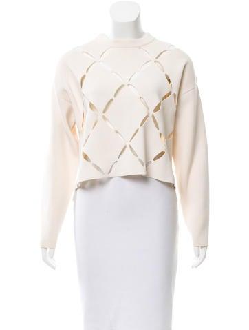 Proenza Schouler Cropped Cutout Sweater w/ Tags None