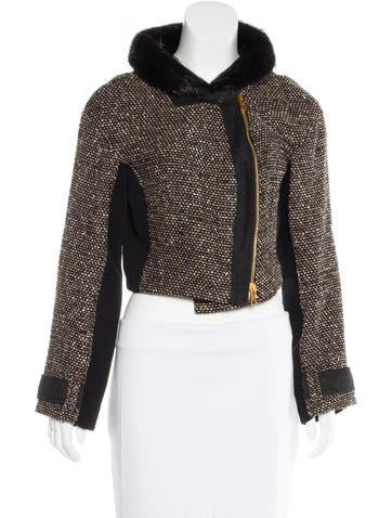 Proenza Schouler Fur-Trimmed Wool Jacket None