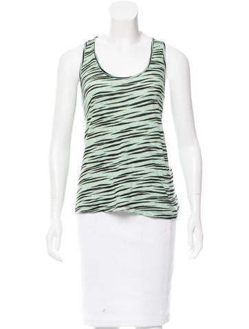 Proenza Schouler Sleeveless Zebra Print Top None