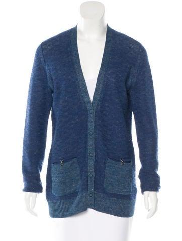 Proenza Schouler Linen-Blend Long Sleeve Cardigan None