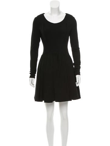 Proenza Schouler Long Sleeve Pleat-Accented Dress w/ Tags