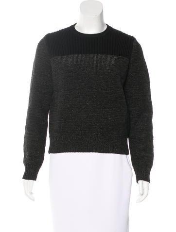 Proenza Schouler Wool-Blend Crew Neck Sweater None