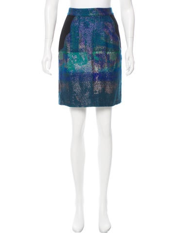 Proenza Schouler Woven Metallic Skirt None