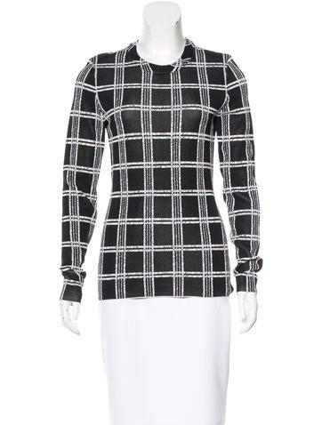 Proenza Schouler Plaid Print Knit Sweater None