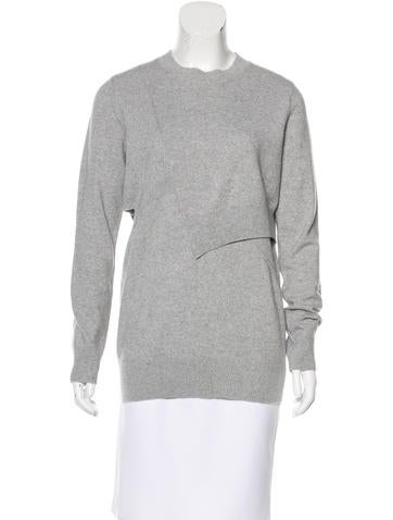Proenza Schouler Cutout Wool-Blend Sweater w/ Tags None