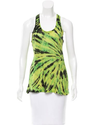 Proenza Schouler Sleeveless Tie-Dye Top None
