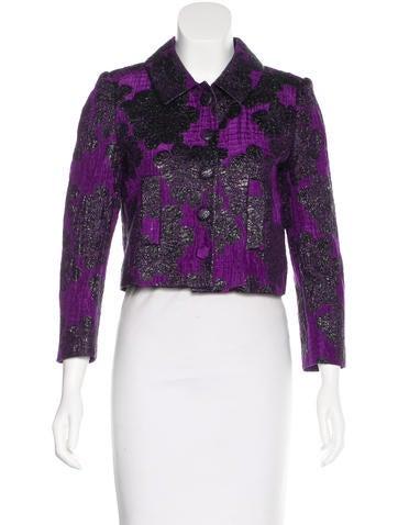 Proenza Schouler Silk-Blend Cropped Jacket None
