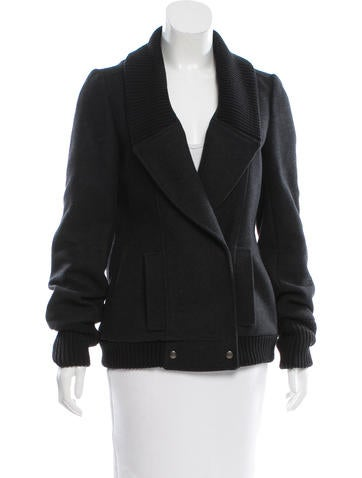 Proenza Schouler Wool Knit-Trimmed Jacket None
