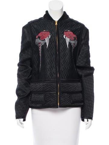 Proenza Schouler Silk Bomber Jacket None