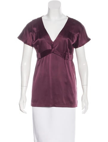 Proenza Schouler Silk V-Neck Top None