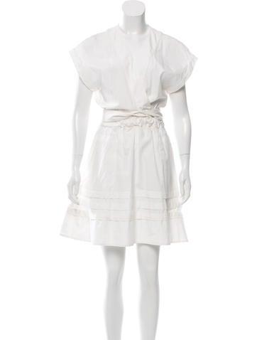 Proenza Schouler Short Sleeve Knee-Length Dress