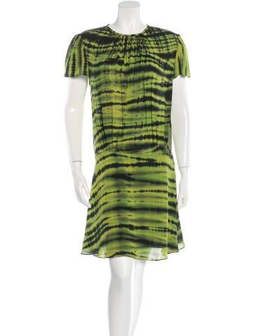 Proenza Schouler Tie-Dye Chiffon Dress