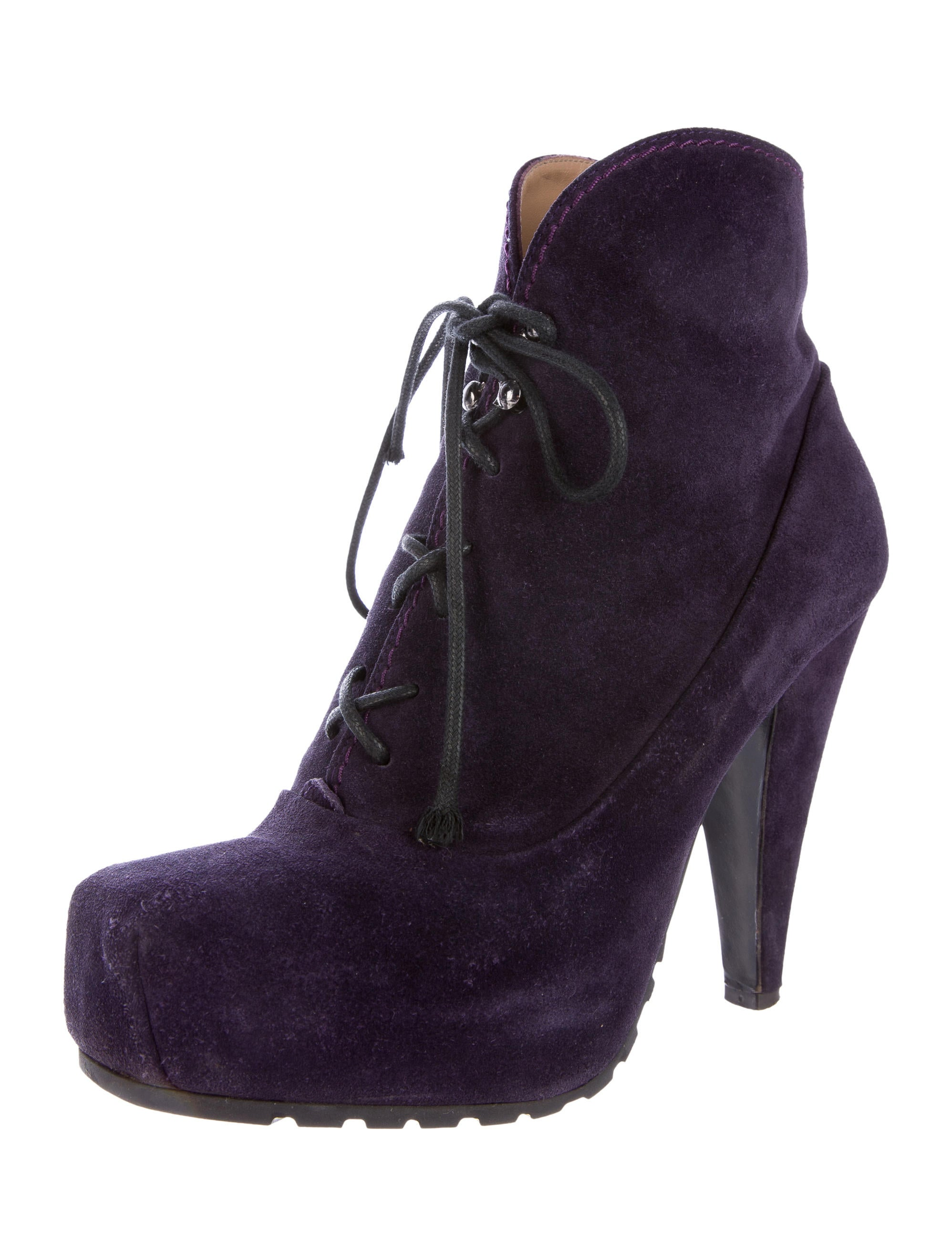 proenza schouler suede lace up ankle boots shoes