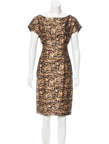 Proenza Schouler Abstract Jacquard Dress None