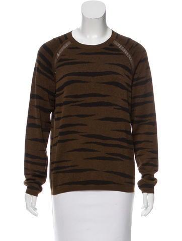 Proenza Schouler Zebra Print Lightweight Sweater None