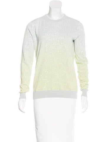 Proenza Schouler Intarsia Ombré Sweater None
