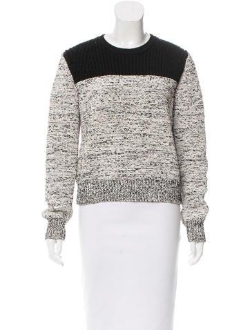 Proenza Schouler Two-Tone Wool-Blend Sweater None
