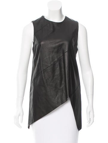 Proenza Schouler Leather Assymetrical Top None