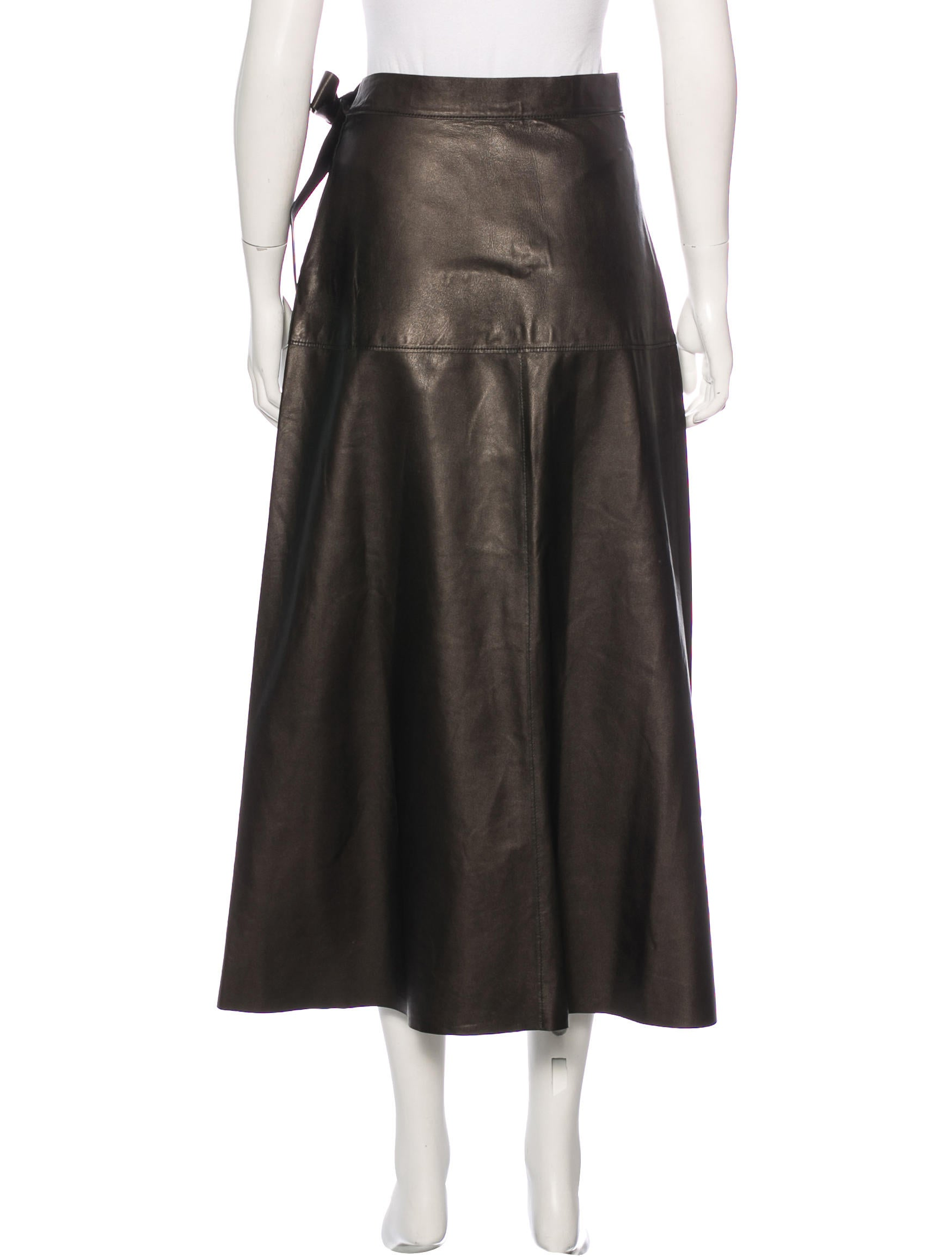 proenza schouler leather a line skirt clothing