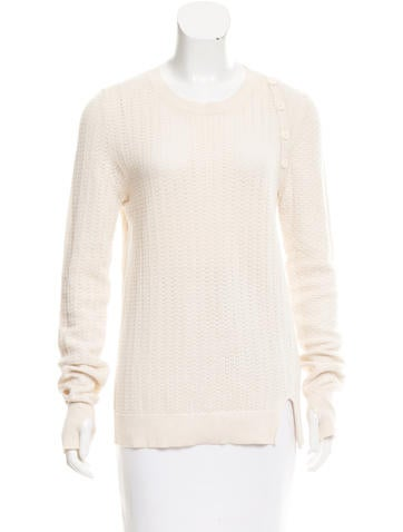 Proenza Schouler Open Knit Crew Neck Sweater None
