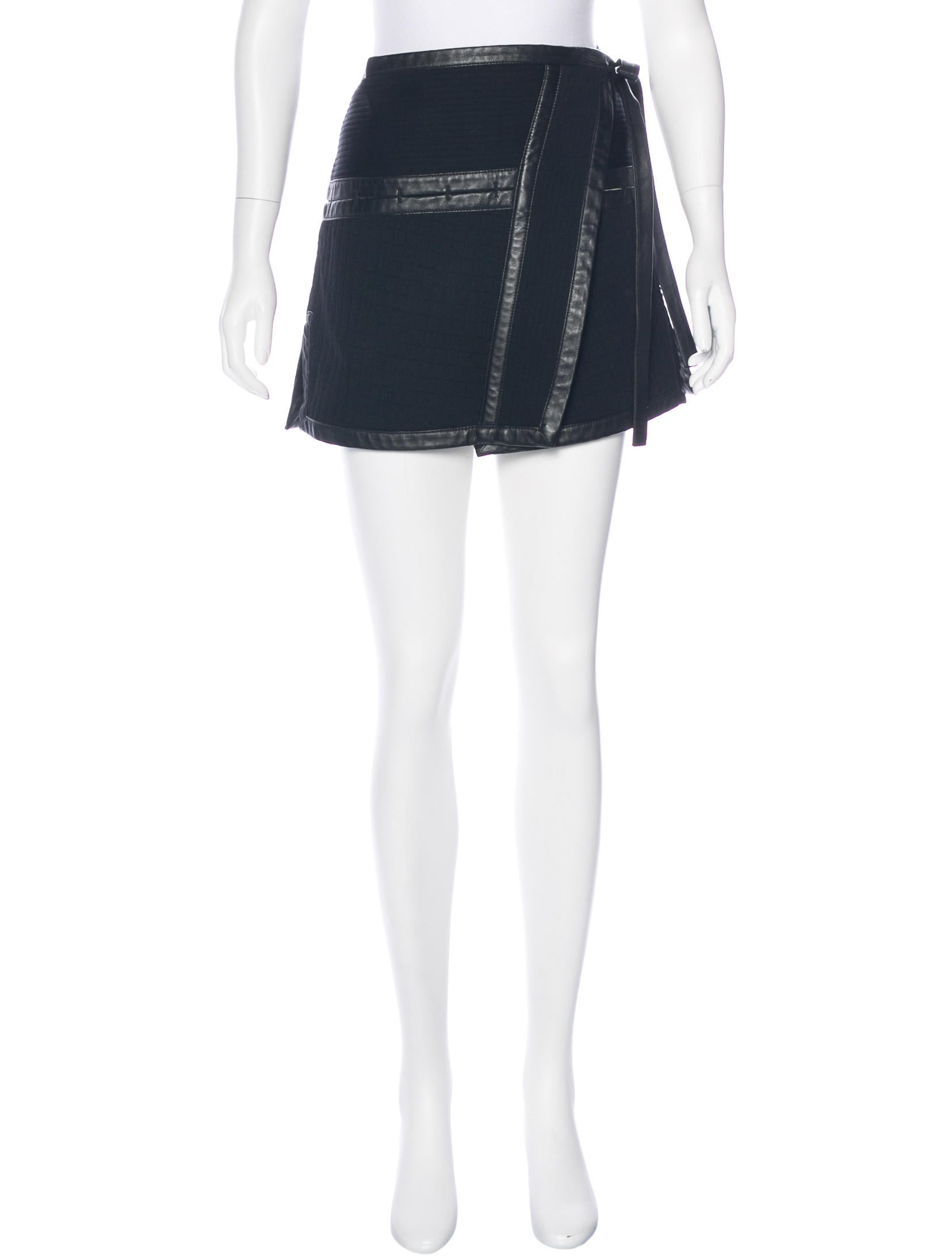 proenza schouler leather trimmed quilted skirt clothing