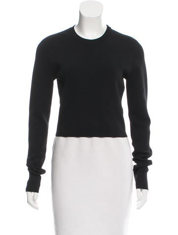Proenza Schouler Rib Knit Crop Top None