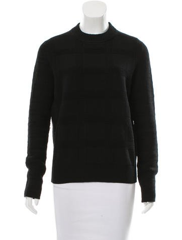Proenza Schouler Wool Check Patterend Sweater None