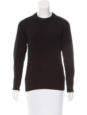 Proenza Schouler Long Sleeve Wool Sweater None