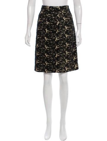 Proenza Schouler Wool & Silk-Blend Skirt None