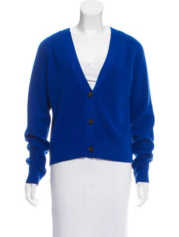 Proenza Schouler Cashmere Button-Up Cardigan None