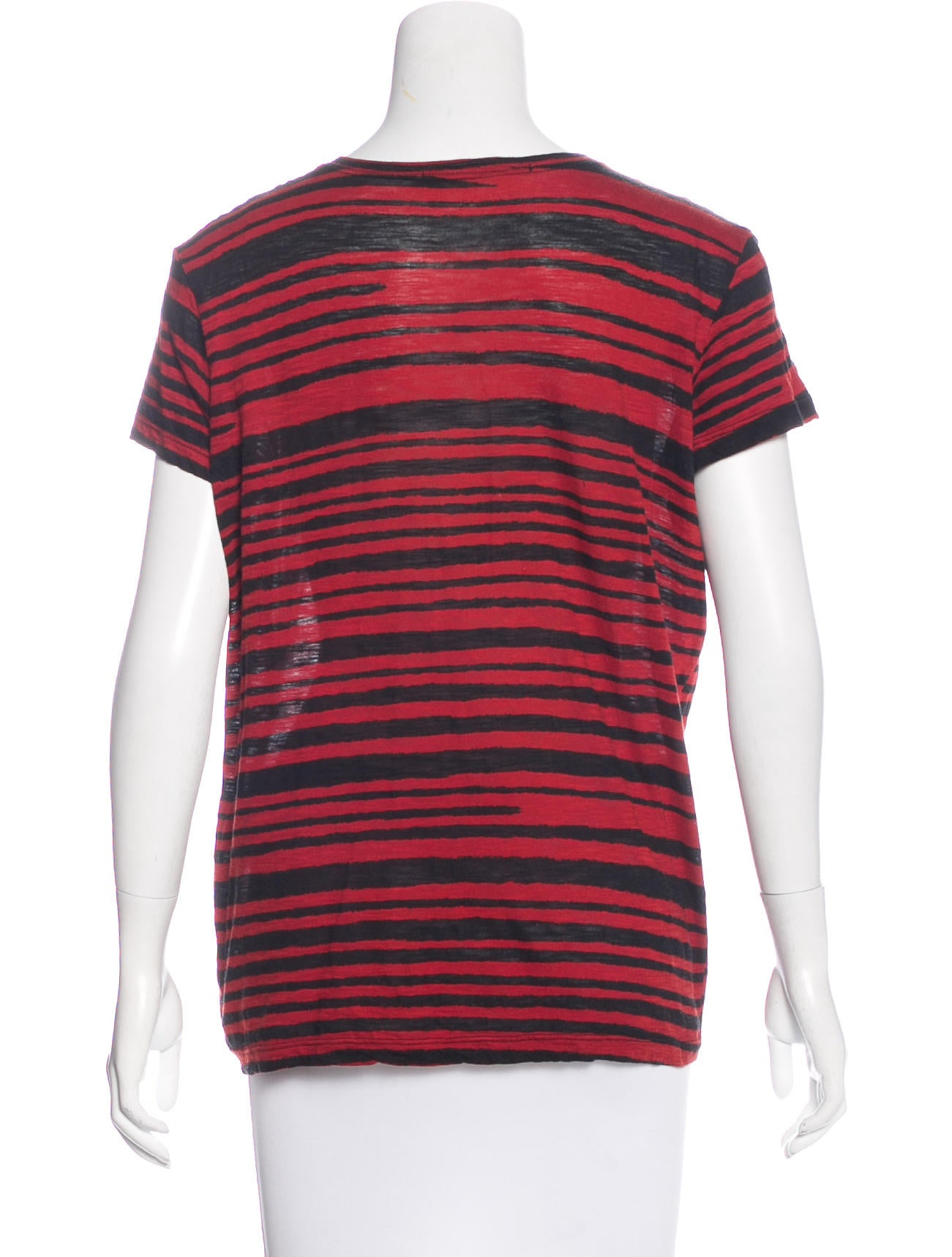 Proenza schouler striped scoop neck t shirt clothing for Scoop neck t shirt