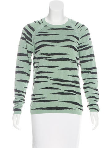 Proenza Schouler Patterned Knit Sweater None