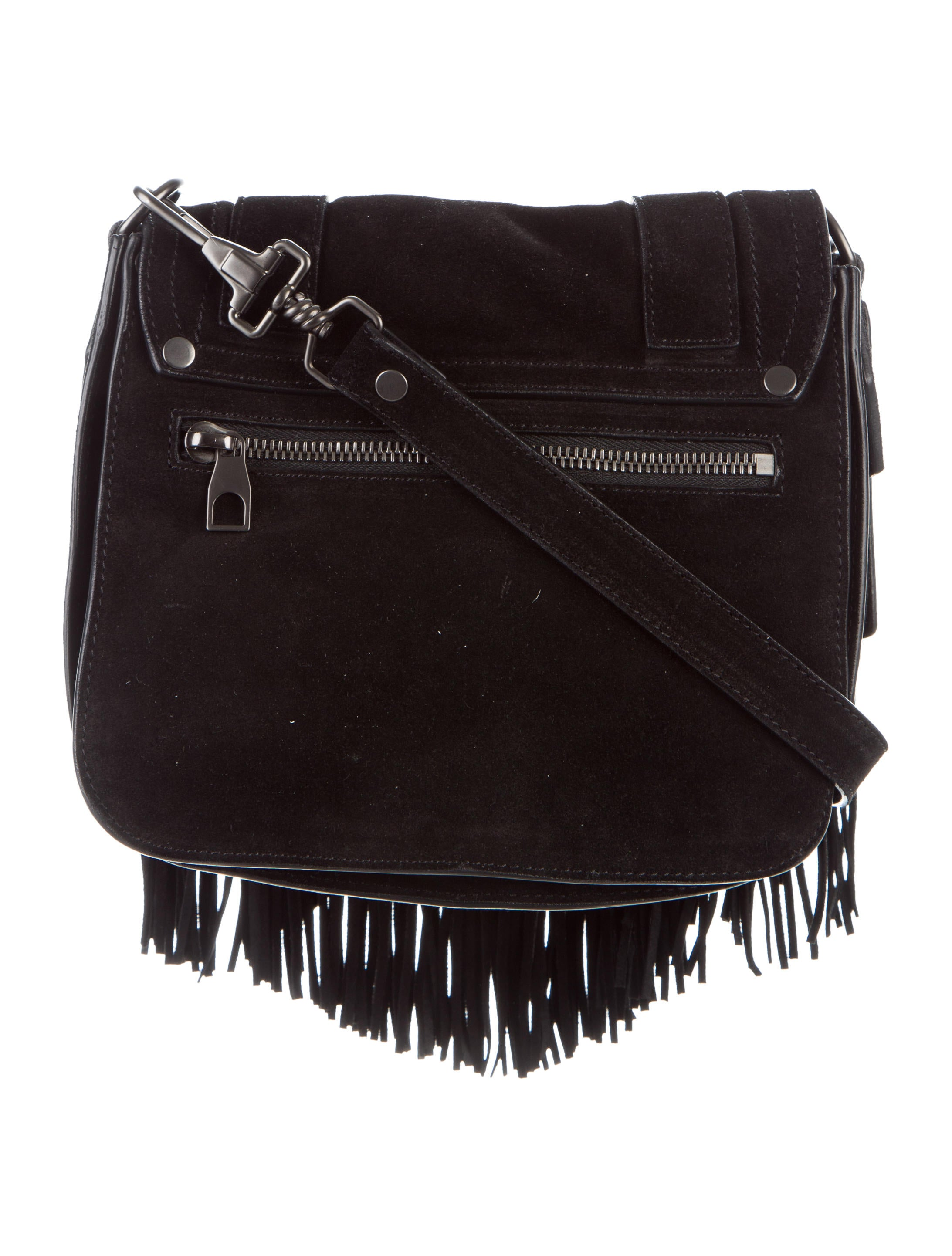 Proenza Schouler PS1 Suede Fringe Pouch Handbags  : PRO373404enlarged from www.therealreal.com size 2185 x 2883 jpeg 413kB