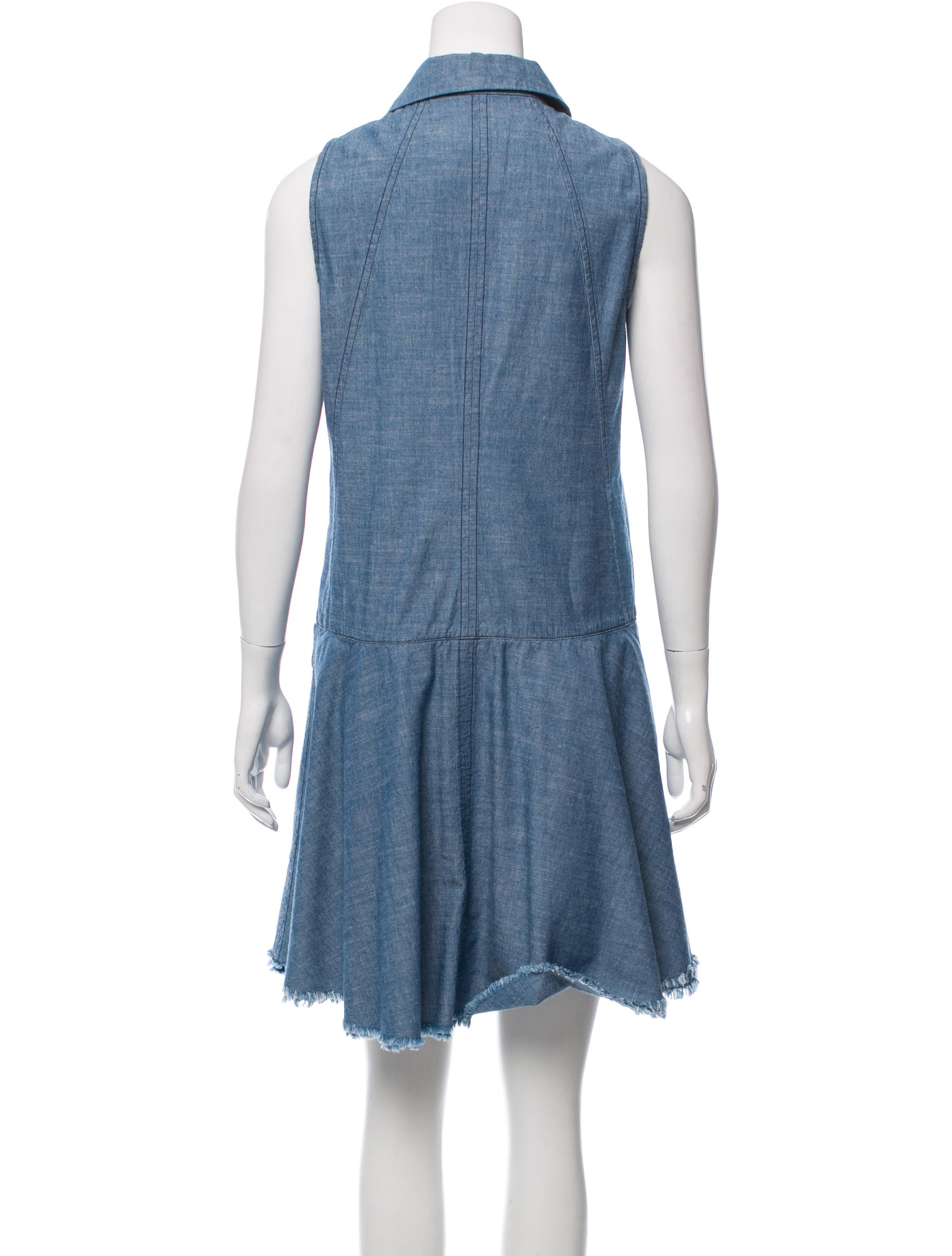 Proenza schouler a line chambray dress clothing for Chambray dress