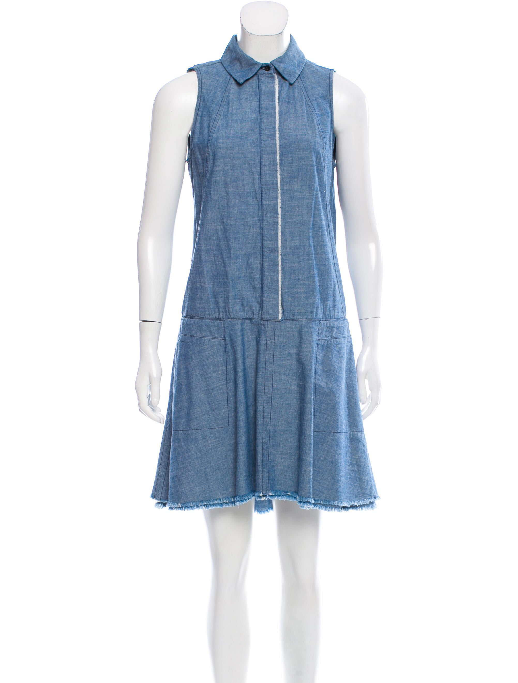 Proenza schouler sleeveless chambray dress w tags for Chambray dress