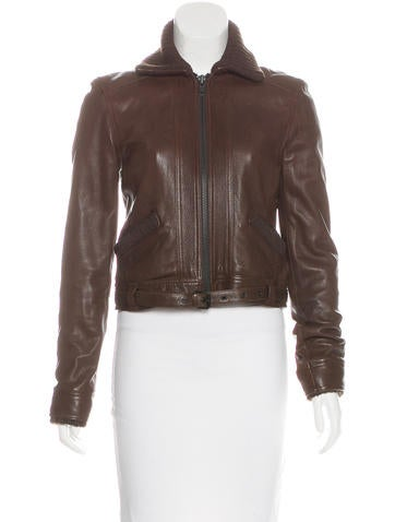 Proenza Schouler Belted Leather Jacket None