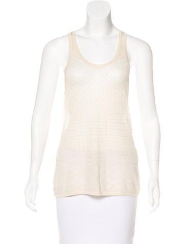 Proenza Schouler Silk Open Knit Top None