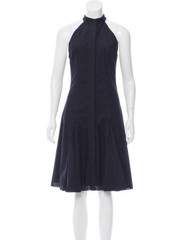 Proenza Schouler Perforated Midi Dress None