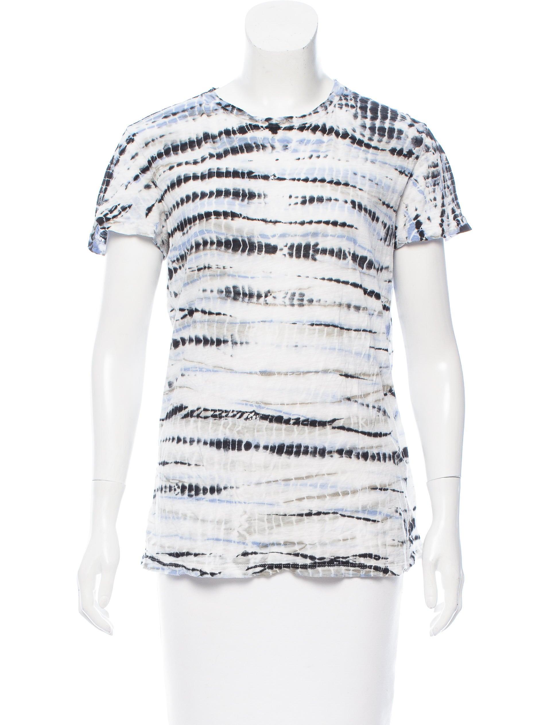 Proenza schouler tie dye printed knit t shirt clothing for Tie dye printed shirts