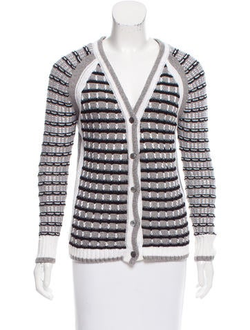 Proenza Schouler Patterned Wool Cardigan None
