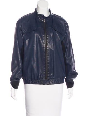 Proenza Schouler Distressed Leather Jacket None