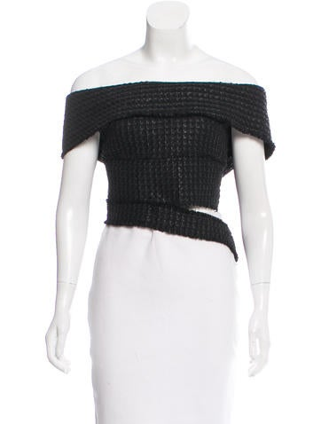 Proenza Schouler Off-The-Shoulder Tweed Top w/ Tags None